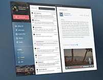 Graphic Design Dashboard ui