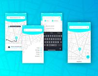 Taxi order app
