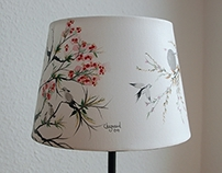 Asian painting, table lamp nr.1 - 195 Euro