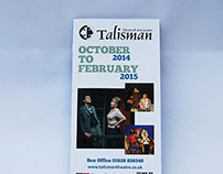 Talisman Theatre brochure Autumn/Winter Season