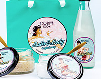 Eco Diva - Bath & Body Range - Label Design