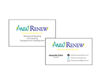 Anew Renew Logo and Business Card