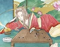 Ancient Chinese style illustrations