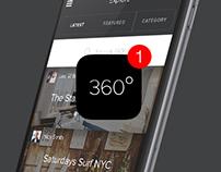 Pano 360º - UX/UI iOs app design