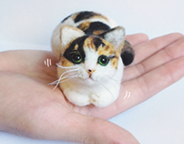 Needle Felted Cat Project