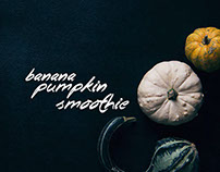FOOD: Banana pumpkin smoothie