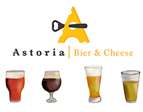 Menu Design for Astoria Bier & Cheese