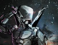 Neon Ninja - Cyborg Concepting process