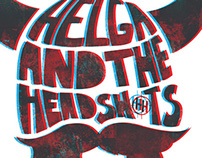 3D Helga and the Headshots Logo and Poster