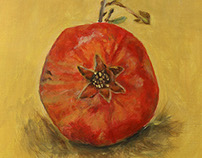 Pomegranate: Red and Gold