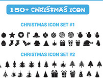 Free Vector 150+Christmas Icons