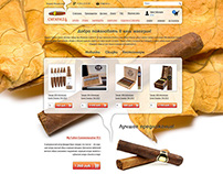 E-commerce design for liquor and cigar shop