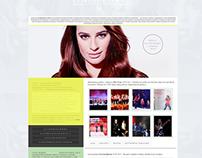 Lea Michele Wordpress Theme