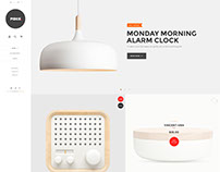 PIECE - Minimalist Interior Website