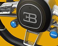 Bugatti / Chiron - Steering-wheel Concept