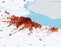Densidad poblacional en Argentina