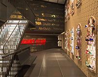 Flight Club: Visualizaciones diseño interior