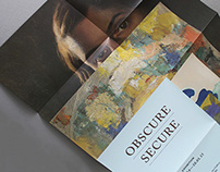 Obscure Secure Exhibition identity and materials