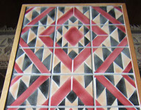 Navajo Rug Design Ceramic Tile Coffee Table