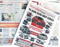 Publicidad de Concesionarios de autos - Diario