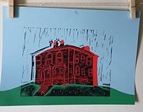 Springfield Mount Lino Prints