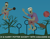 Leeds Quidditch & Harry Potter Society misc Designs