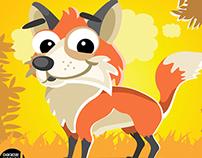 Cartoon Animal Characters Vector Graphics