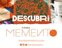 Tienda Memento. Diseño de identidad.