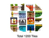Platformer Tiles Pack 2 : 1200 tiles