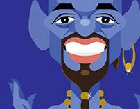 Will Smith The Genie Aladdin 2019 Vector Caricature