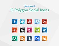 15 Polygon Social Icons Download