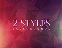 Polygon Backgrounds - 2 Styles - $3