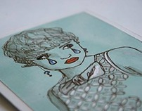 Shiv Illustration / Grumpy Girl Greeting Card