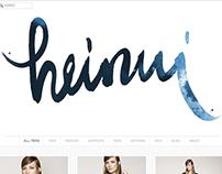 Handwritten logo for Heinui