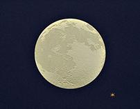 Foil Stamp Moon