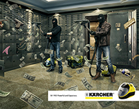 Creative print for the Kärcher company