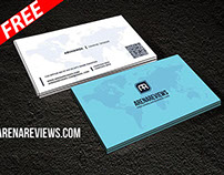 World Map Professional Business Card (FREE)