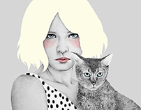 Girls with animals