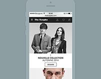 The kooples redesign concept - mobile version V2
