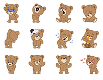 Teddy Bear stickers for IMO