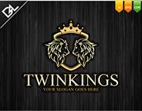 Twin Kings Logo Template