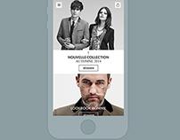 The kooples redesign concept GIF- mobile version V1