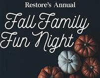 Restore Fall Family Fun Branding