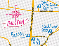 map of Dalston