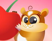 Hamster & Cherries