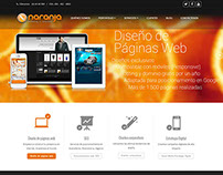 Sitio web Naranja Marketing de Colombia.