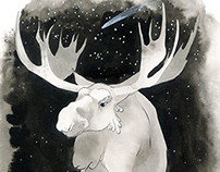 The Elk and Princess Cottongrass
