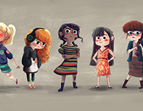 Girls and boys - Character designs