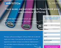 USB Factory Landing Page (2014)