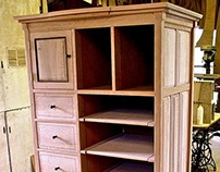 Storage Cabinet In Sycamore & Cherry
